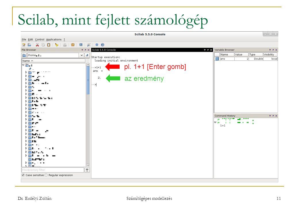 Scilab, mint fejlett számológép