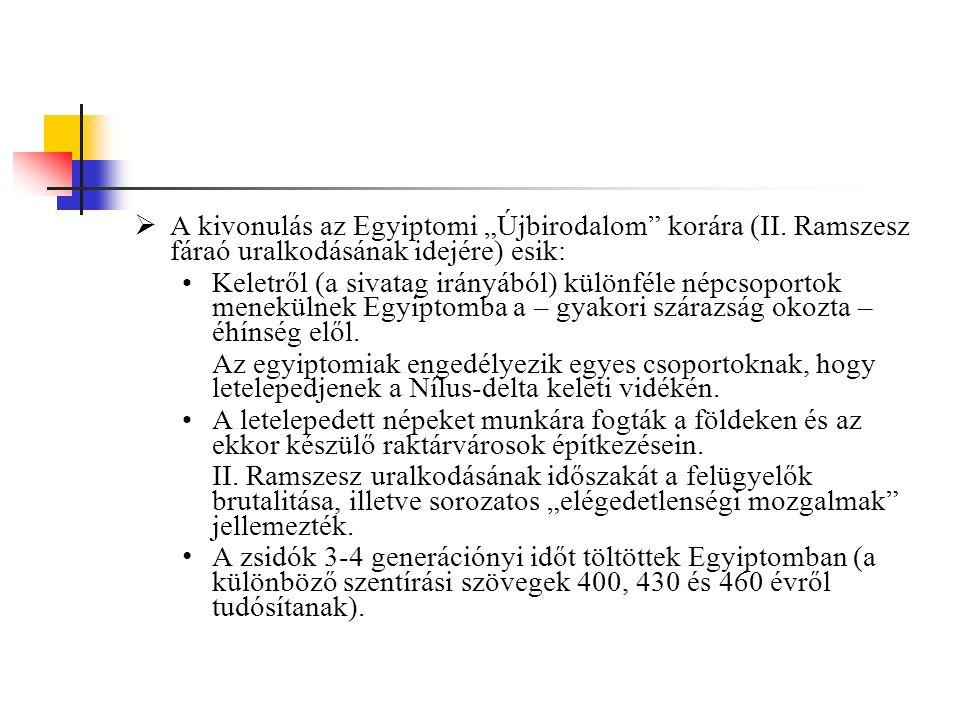 """A kivonulás az Egyiptomi """"Újbirodalom korára (II"""