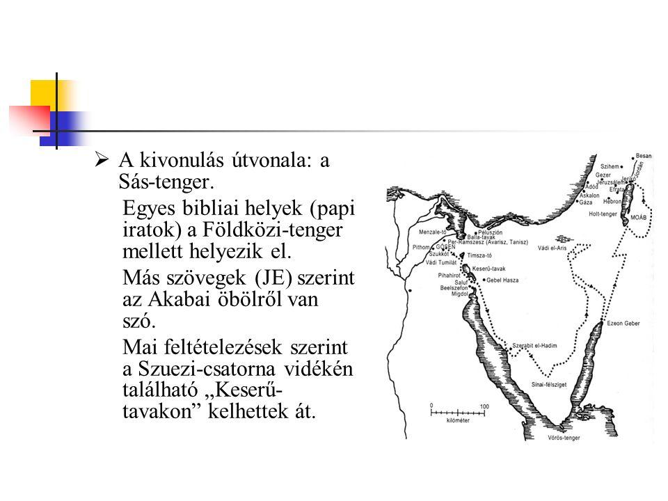 A kivonulás útvonala: a Sás-tenger.