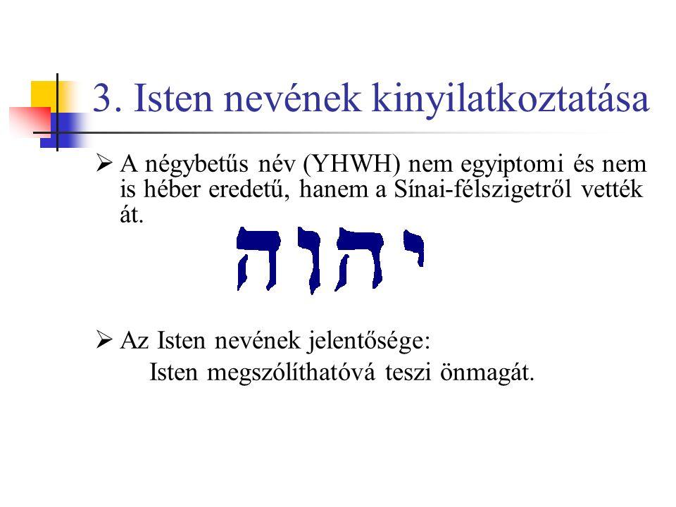 3. Isten nevének kinyilatkoztatása