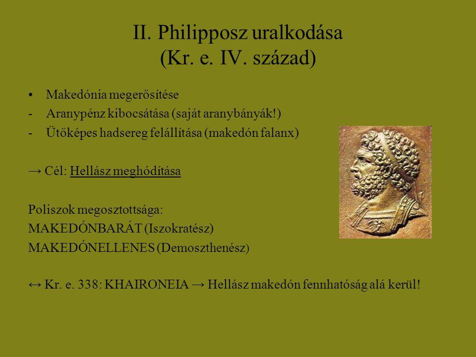 II. Philipposz uralkodása (Kr. e. IV. század)