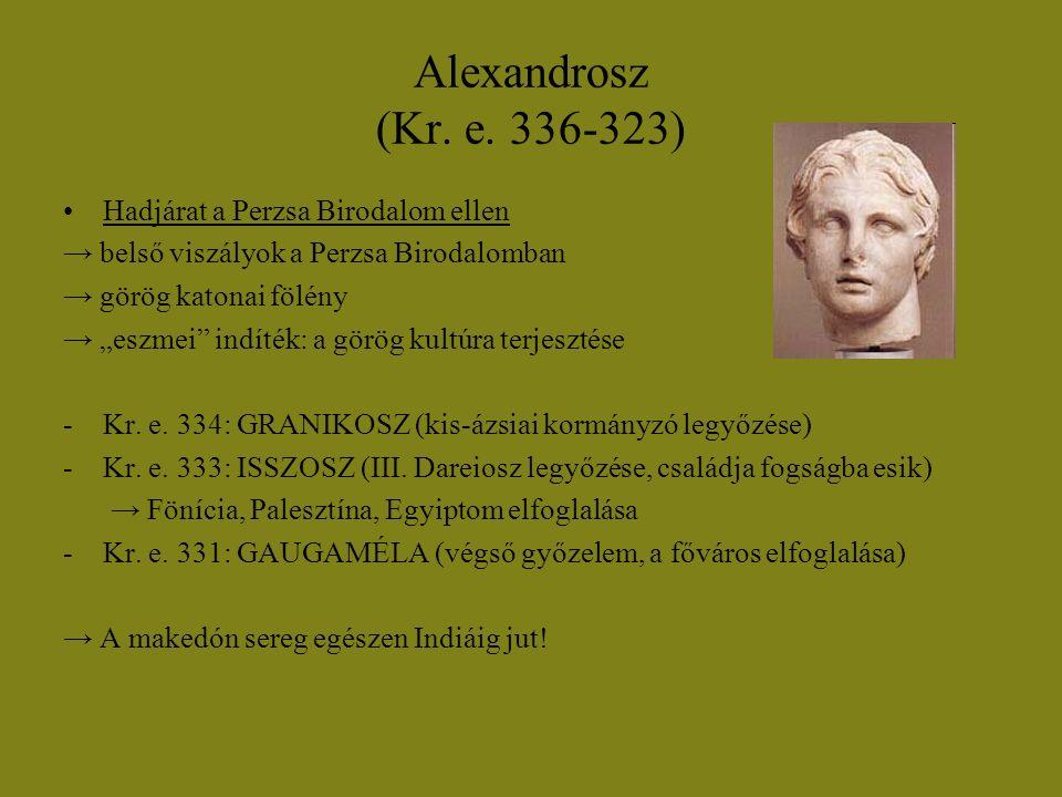 Alexandrosz (Kr. e. 336-323) Hadjárat a Perzsa Birodalom ellen