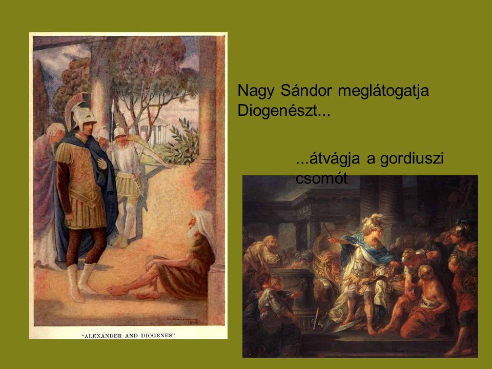 Nagy Sándor meglátogatja Diogenészt...