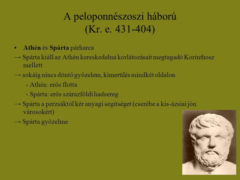 A peloponnészoszi háború (Kr. e. 431-404)