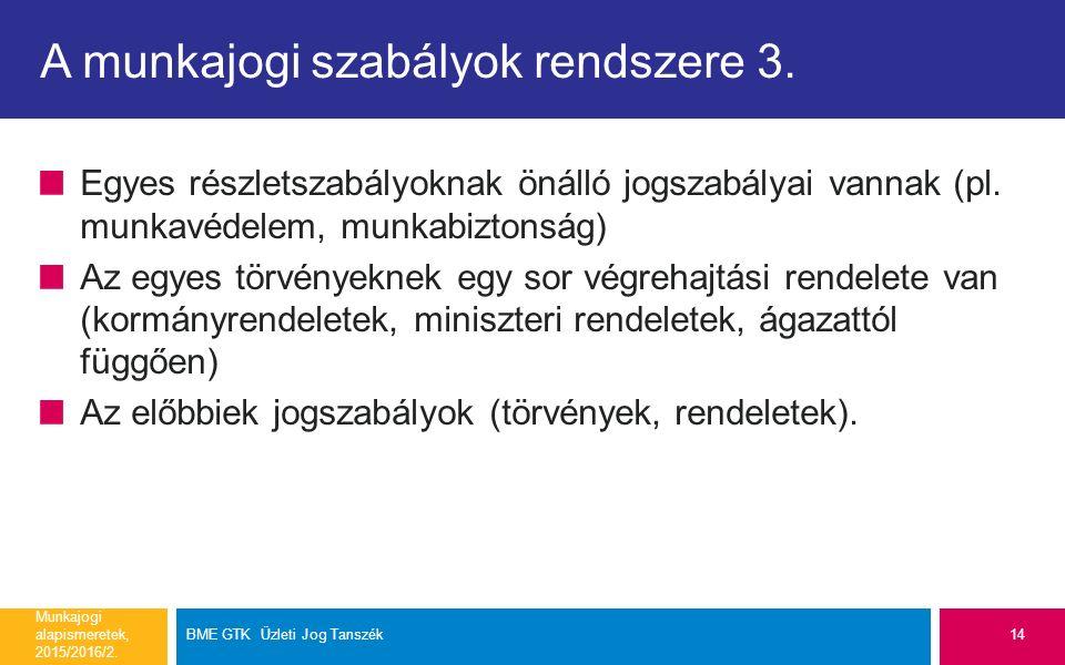 A munkajogi szabályok rendszere 3.