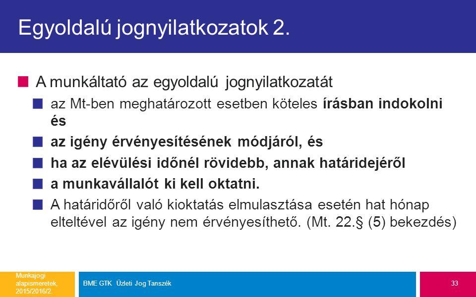 Egyoldalú jognyilatkozatok 2.