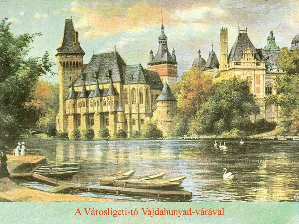 A Városligeti-tó Vajdahunyad-várával