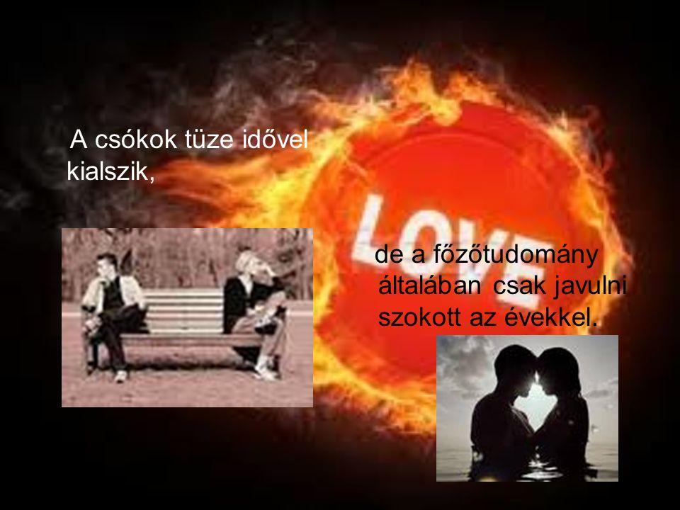 A csókok tüze idővel kialszik,