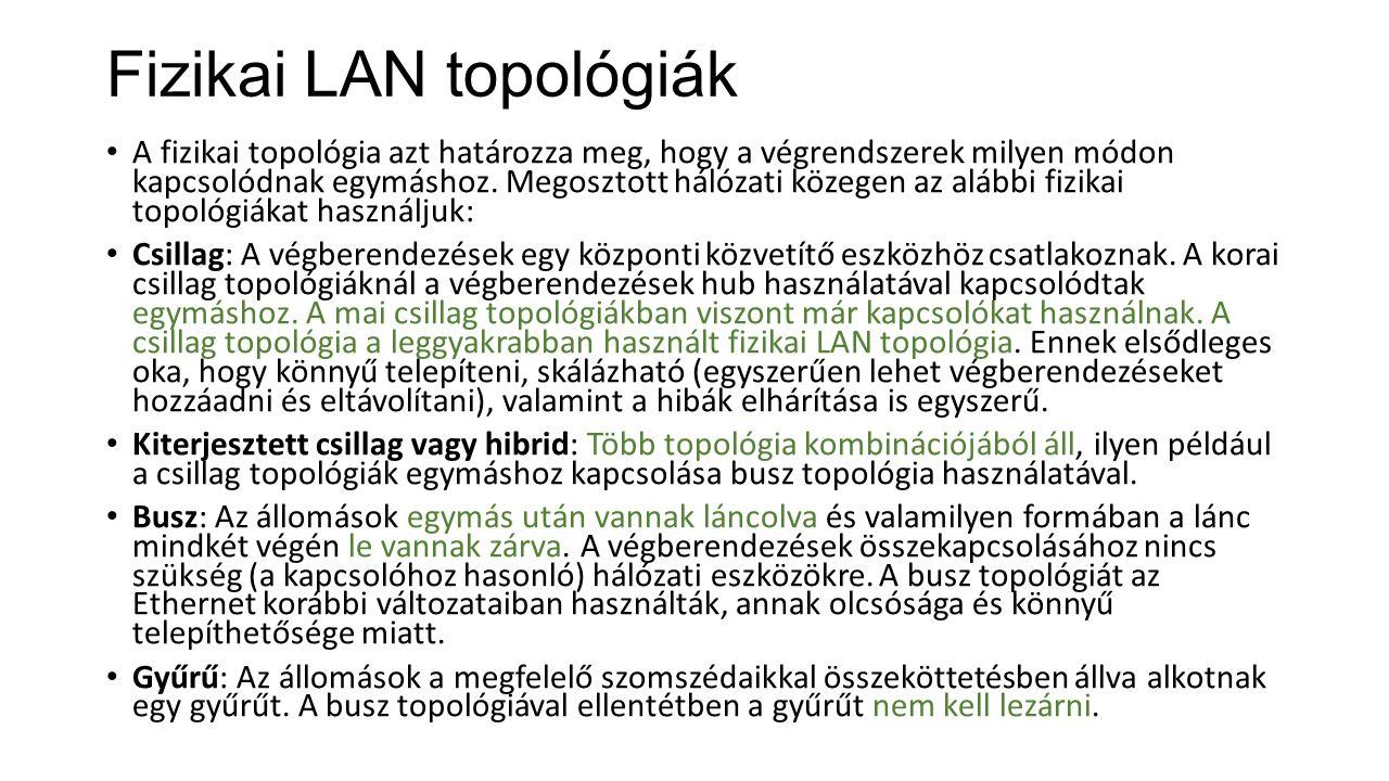 Fizikai LAN topológiák