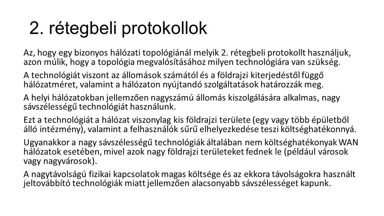 2. rétegbeli protokollok