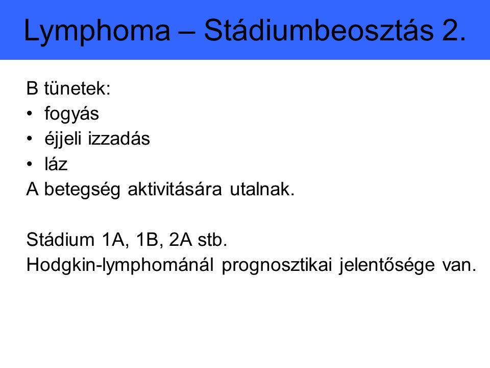 Lymphoma – Stádiumbeosztás 2.
