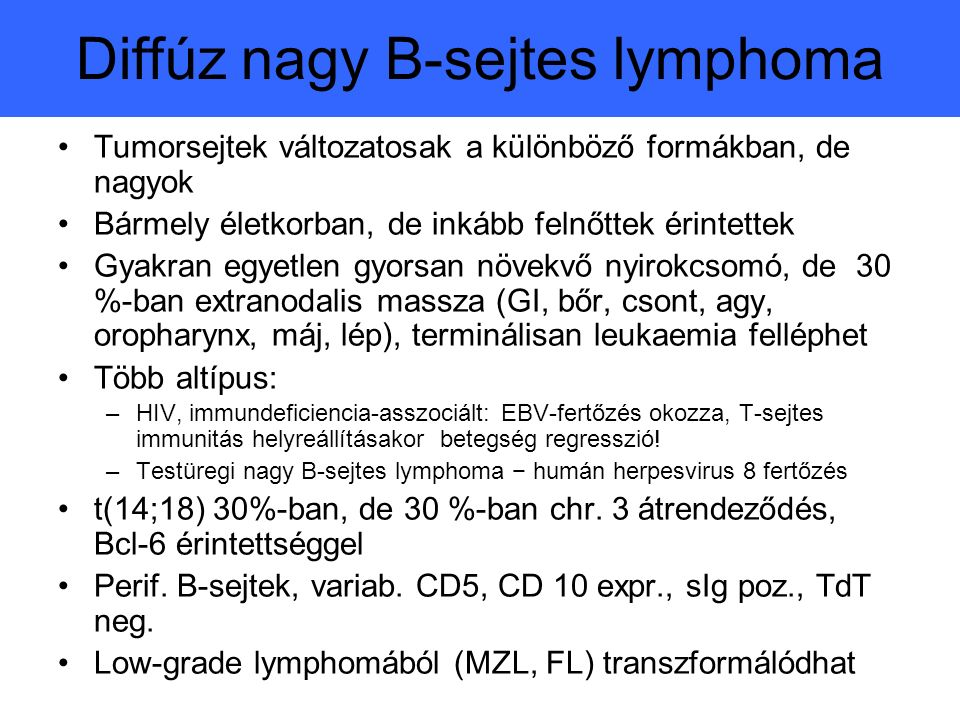 Diffúz nagy B-sejtes lymphoma