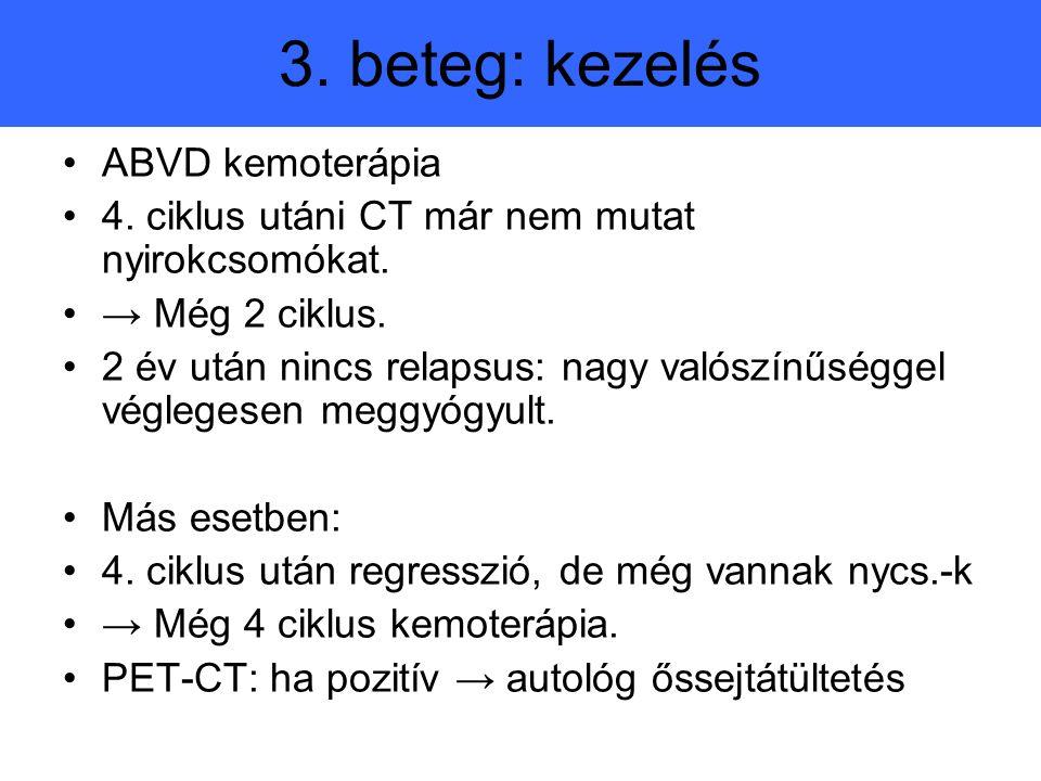 3. beteg: kezelés ABVD kemoterápia