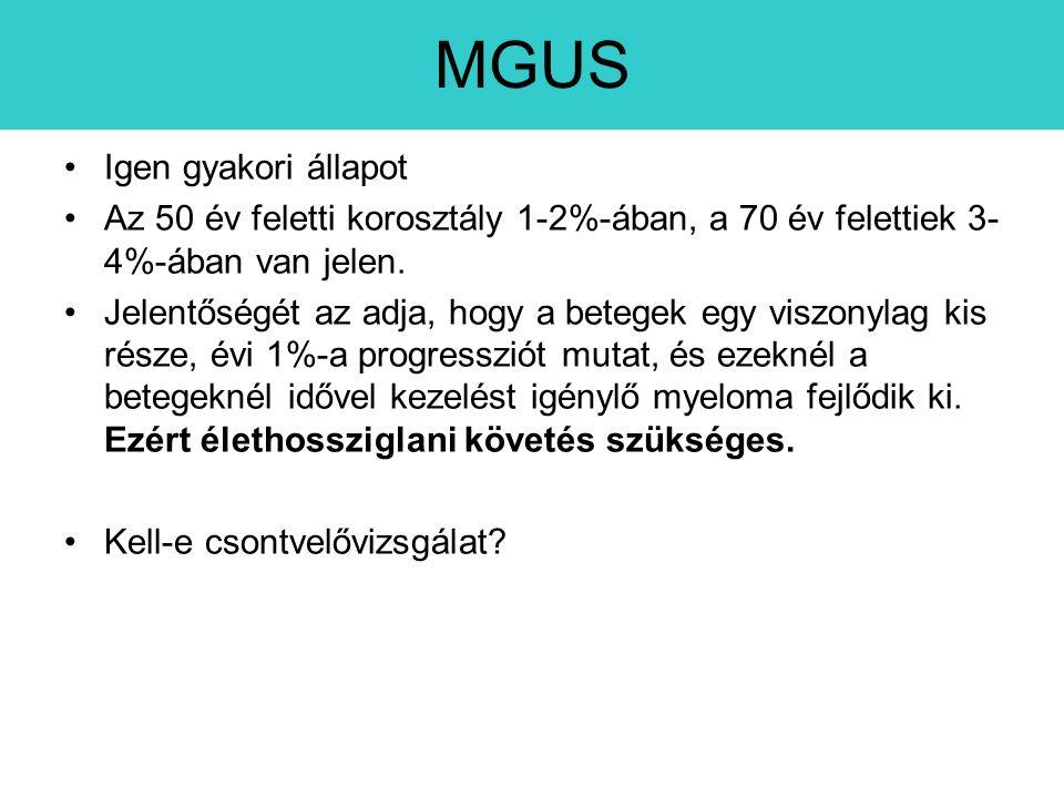 MGUS Igen gyakori állapot