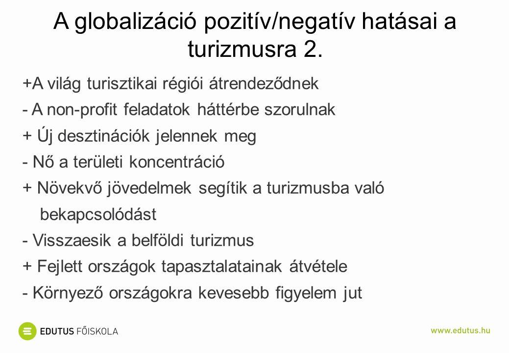 A globalizáció pozitív/negatív hatásai a turizmusra 2.