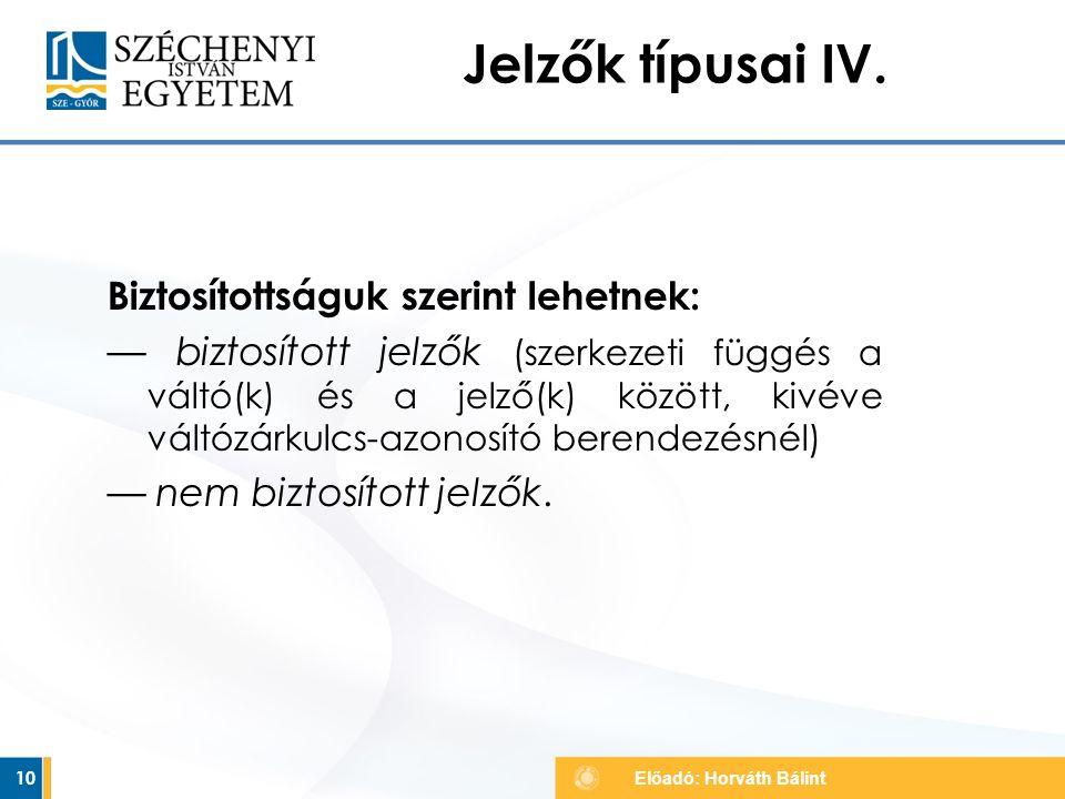 Jelzők típusai IV.
