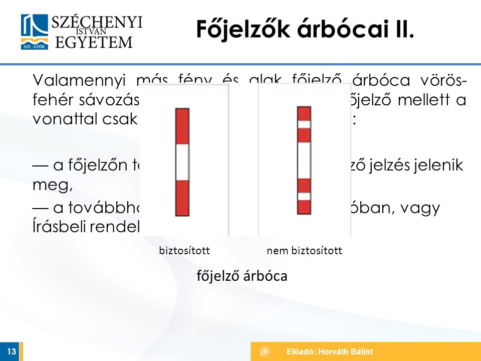 Főjelzők árbócai II.