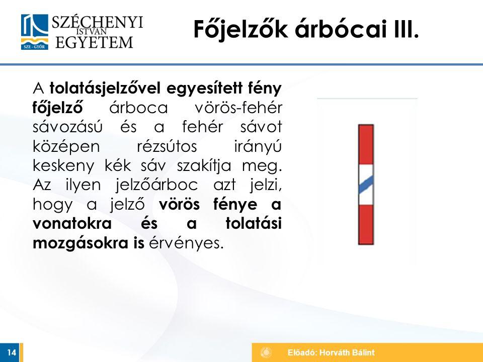 Főjelzők árbócai III.