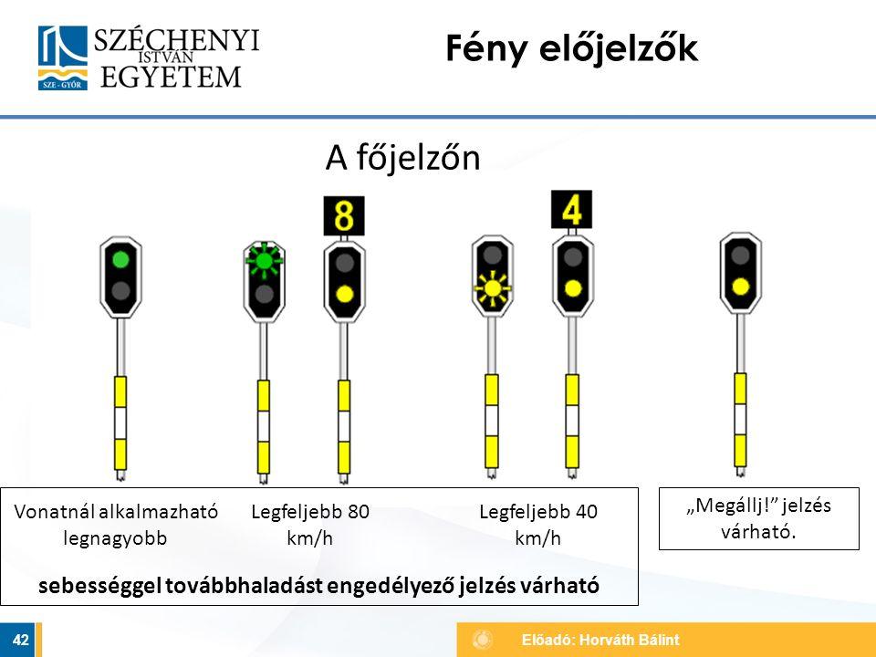 sebességgel továbbhaladást engedélyező jelzés várható