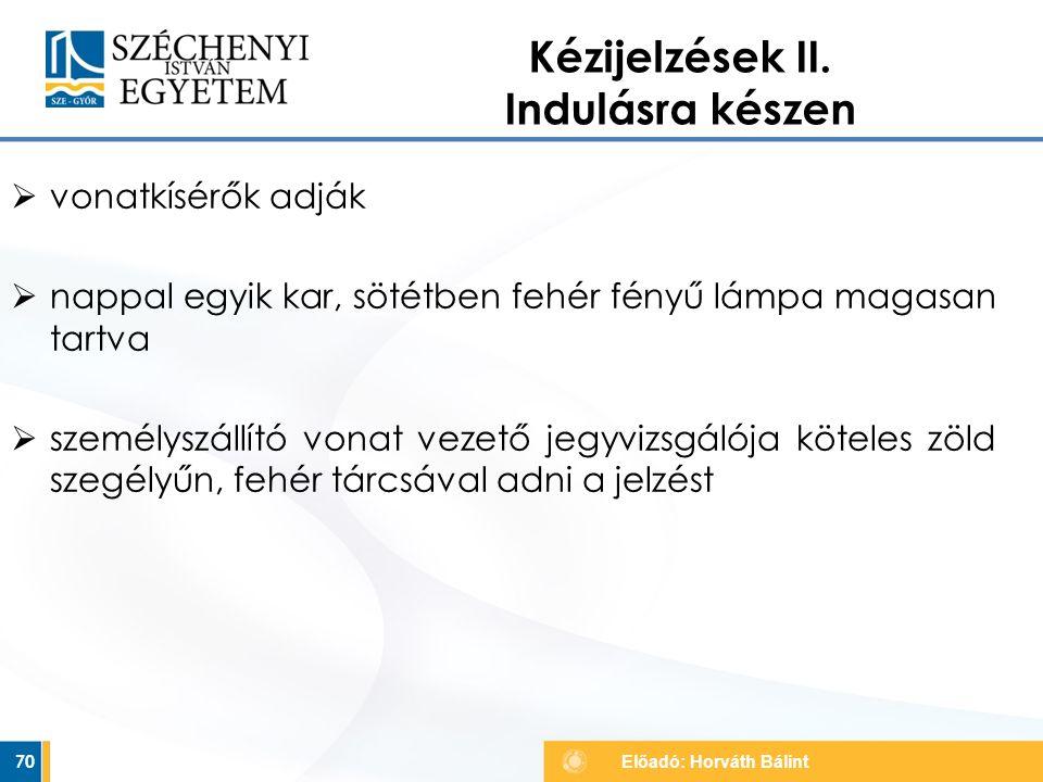 Kézijelzések II. Indulásra készen