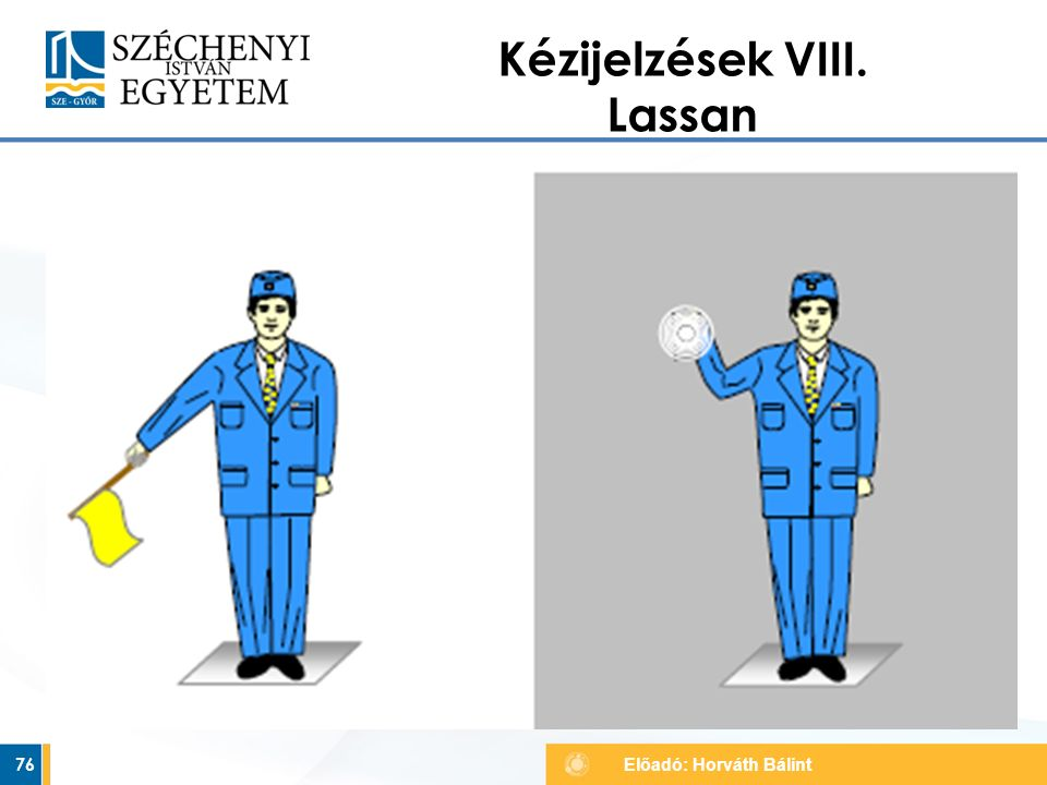 Kézijelzések VIII. Lassan