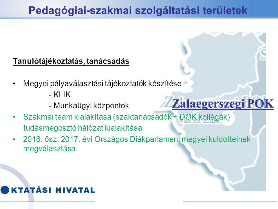 Pedagógiai-szakmai szolgáltatási területek