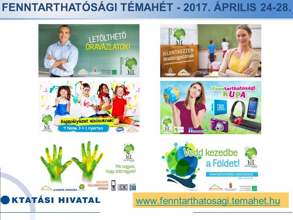 Fenntarthatósági témahét - 2017. Április 24-28.