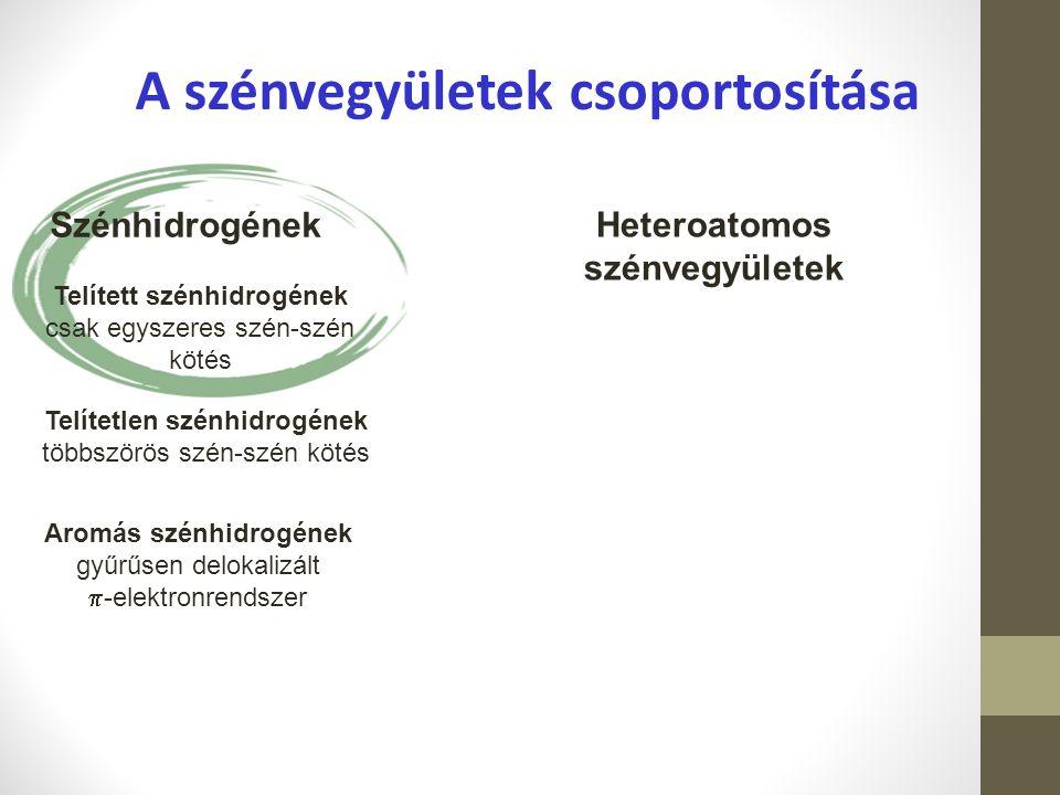 A szénvegyületek csoportosítása