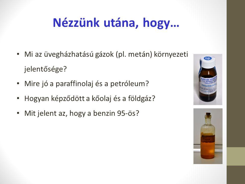 Nézzünk utána, hogy… Mi az üvegházhatású gázok (pl. metán) környezeti jelentősége Mire jó a paraffinolaj és a petróleum