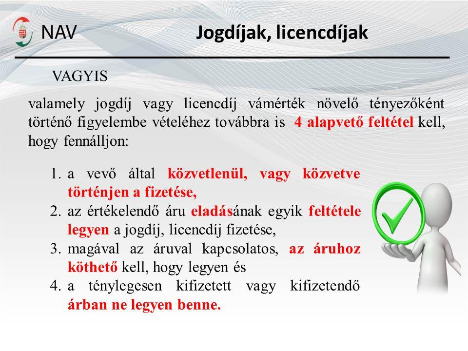 Jogdíjak, licencdíjak VAGYIS