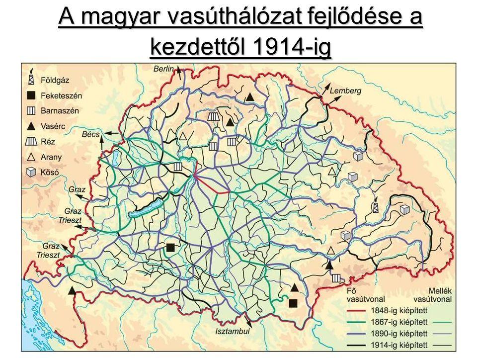 A magyar vasúthálózat fejlődése a kezdettől 1914-ig