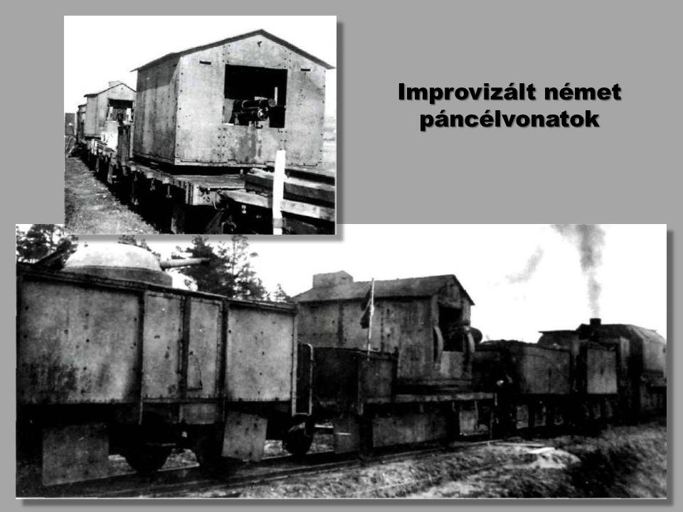 Improvizált német páncélvonatok