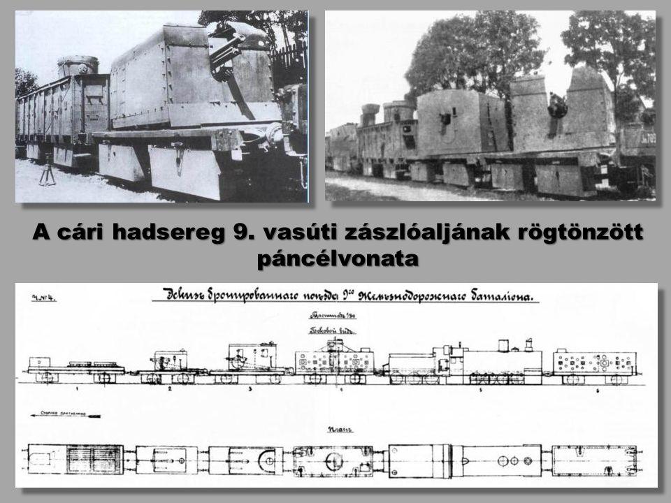 A cári hadsereg 9. vasúti zászlóaljának rögtönzött páncélvonata