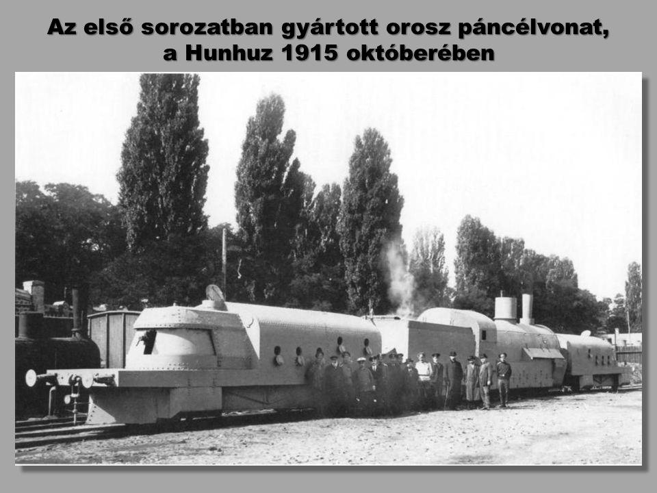 Az első sorozatban gyártott orosz páncélvonat,