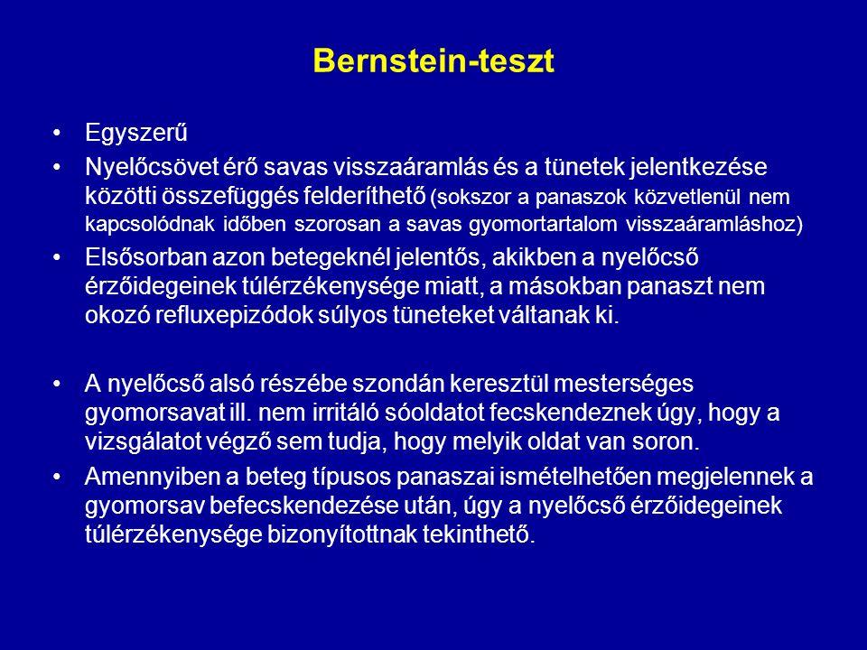 Bernstein-teszt Egyszerű