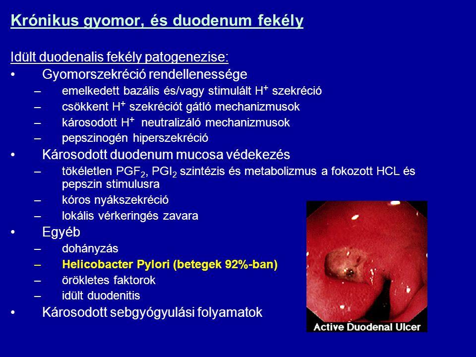 Krónikus gyomor, és duodenum fekély