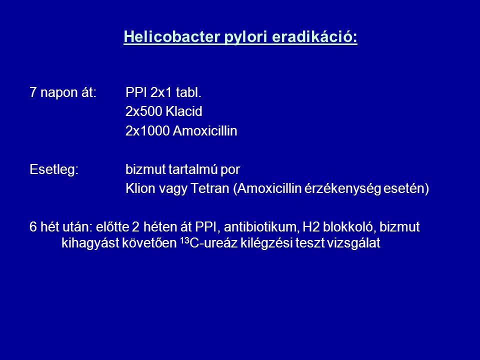 Helicobacter pylori eradikáció: