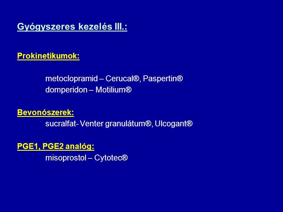 Gyógyszeres kezelés III.: