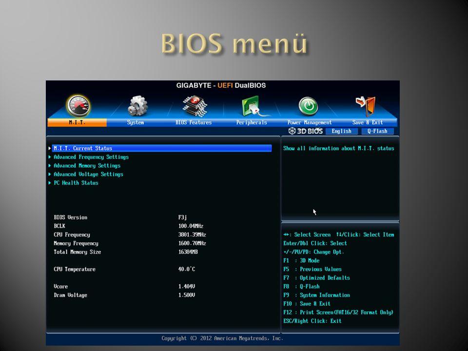 BIOS menü