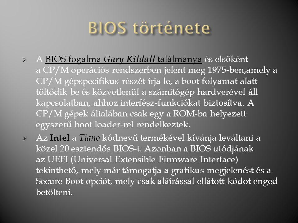 BIOS története