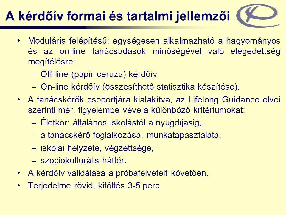 A kérdőív formai és tartalmi jellemzői