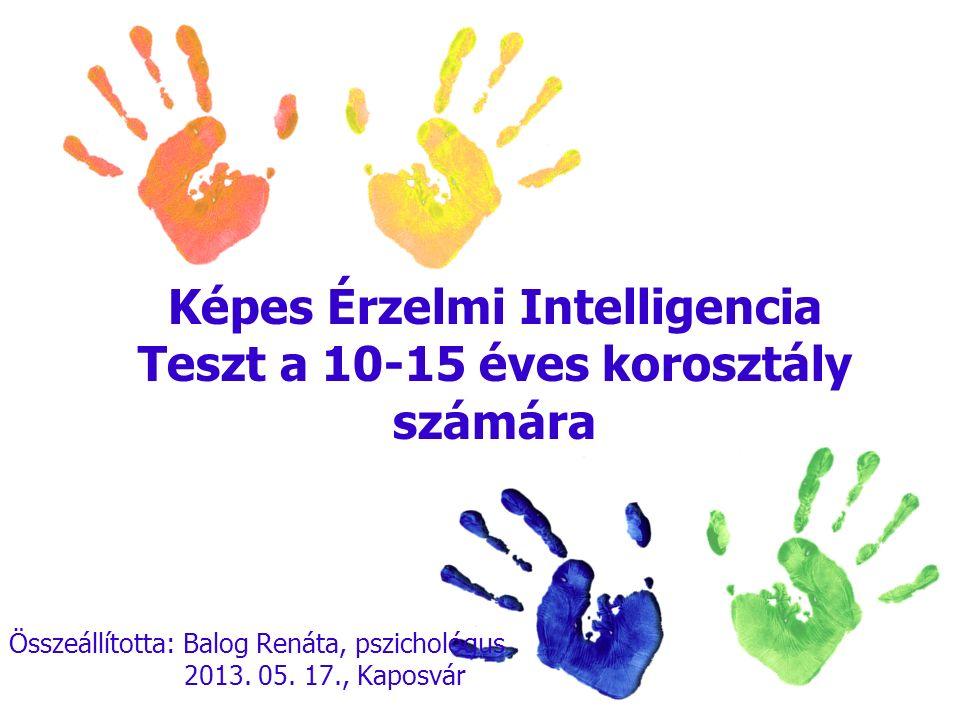Képes Érzelmi Intelligencia Teszt a 10-15 éves korosztály számára
