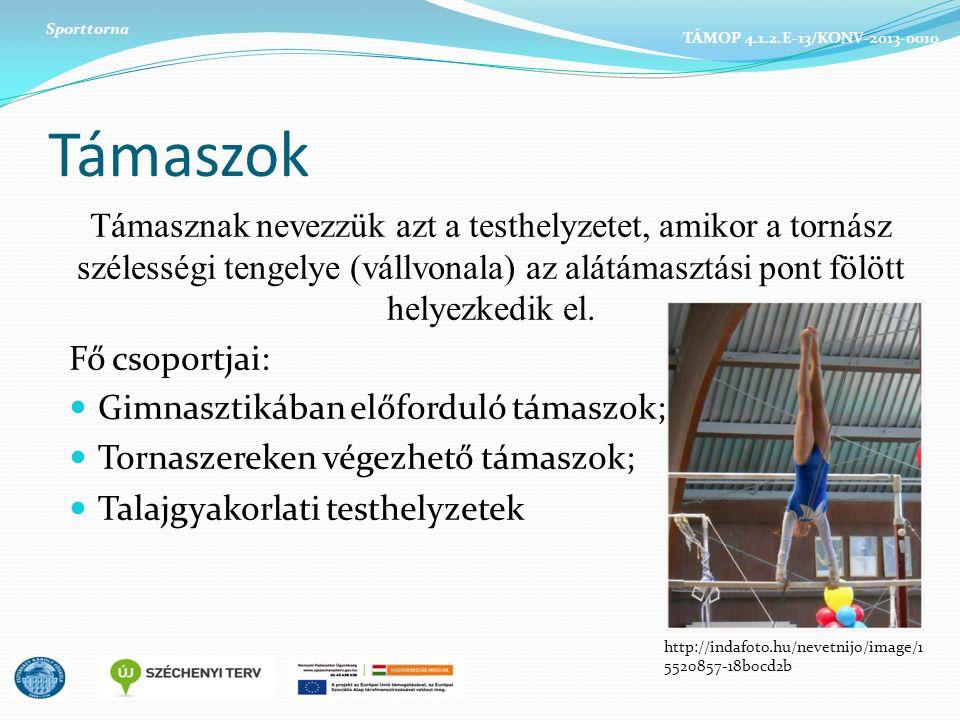 Sporttorna TÁMOP 4.1.2.E-13/KONV-2013-0010. Támaszok.