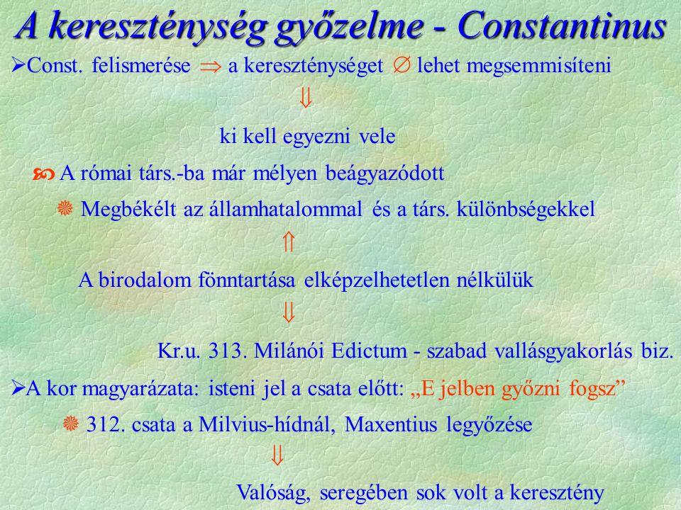 A kereszténység győzelme - Constantinus