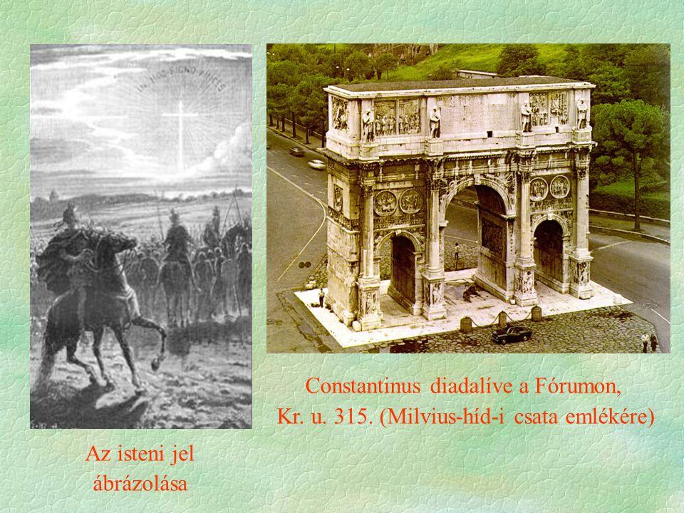 Constantinus diadalíve a Fórumon,
