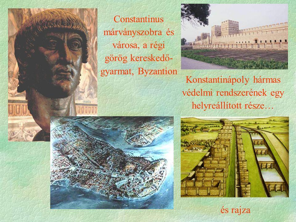 Konstantinápoly hármas védelmi rendszerének egy helyreállított része…