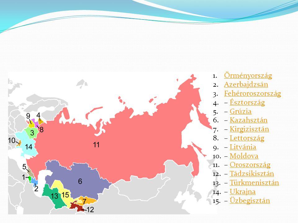 Örményország Azerbajdzsán. Fehéroroszország. – Észtország. – Grúzia. – Kazahsztán. – Kirgizisztán.