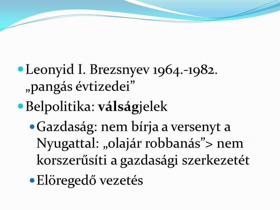 """Leonyid I. Brezsnyev 1964.-1982. """"pangás évtizedei"""