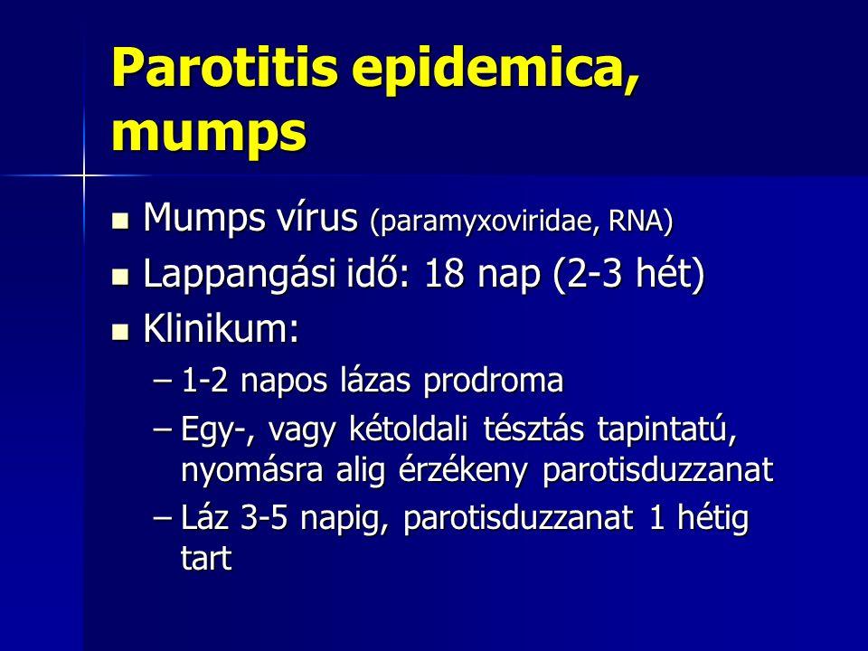 Parotitis epidemica, mumps