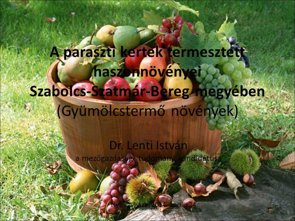 Dr. Lenti István a mezőgazdasági tudomány kandidátusa